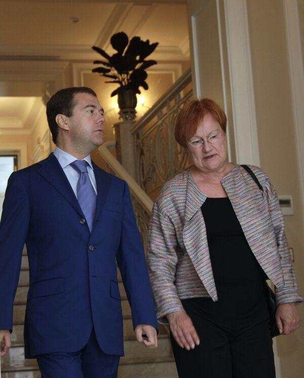 Встреча президентов России и Финляндии Д.Медведева и Т.Халонен