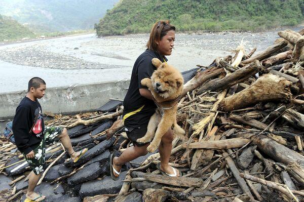 Тайфун Моракот в Тайване
