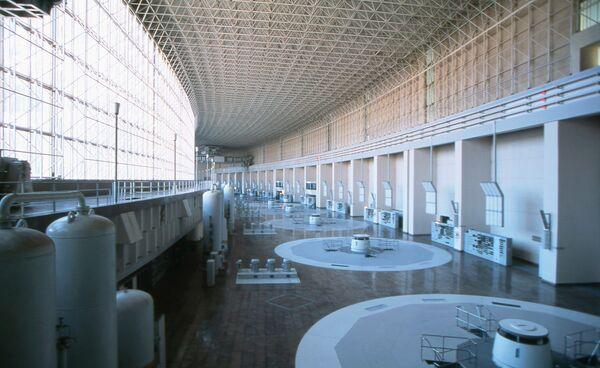 Машинный зал Саяно-Шушенской ГЭС