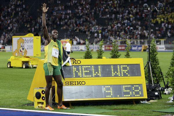 Ямайский спринтер Усейн Болт