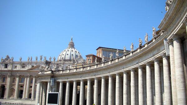Площадь Святого Петра и Собор Святого Петра. Архив