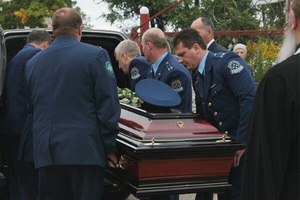 Похороны командира пилотажной группы Русские Витязи Игоря Ткаченко
