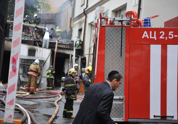 Пожар в здании-пристройке Московской хоральной синагоги