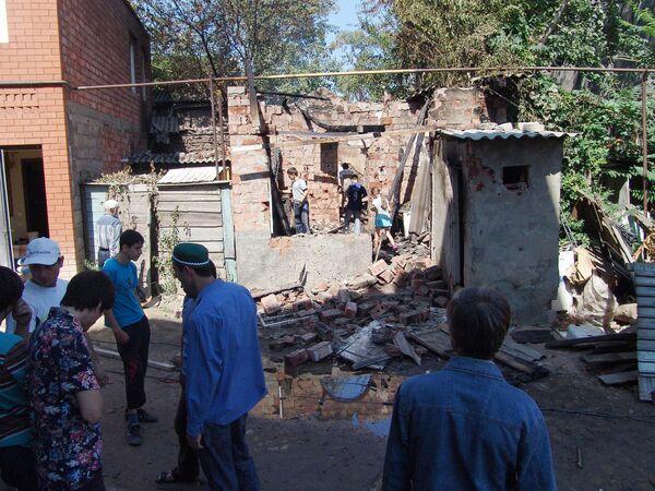 Спецоперация на улице Лаптиева в Махачкале