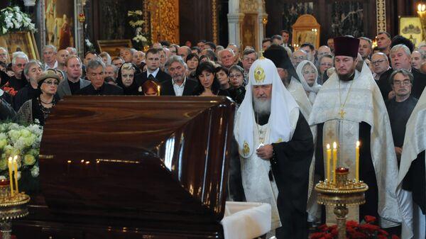 Отпевание Сергея Михалкова в Храме Христа Спасителя