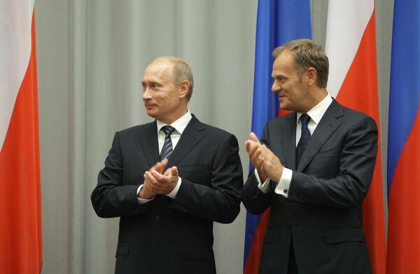 Премьер-министр РФ В.Путин во время рабочего визита в Польшу