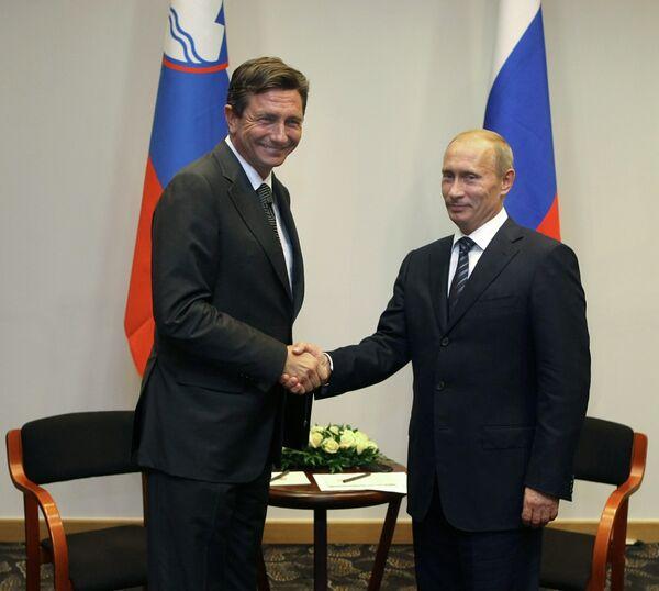 Владимир Путин и Борут Пахор (слева)