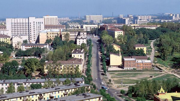 Панорама Хабаровска. Архив