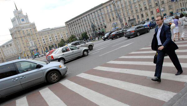 Триумфальная площадь в Москве. Архив