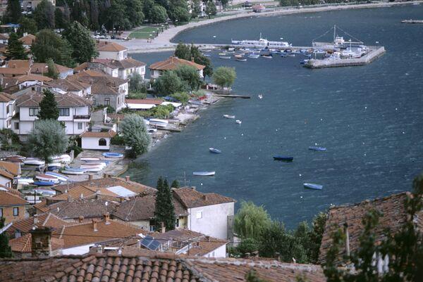 Вид на город Охрид