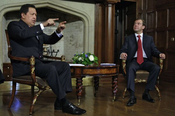 Президенты России и Венесуэлы Д.Медведев и У.Чавес встретились в Подмосковье