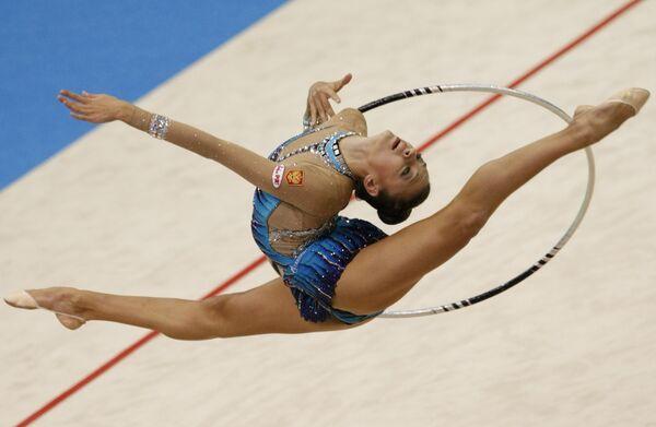 Евгения Канаева на чемпионата мира по художественной гимнастике в Японии