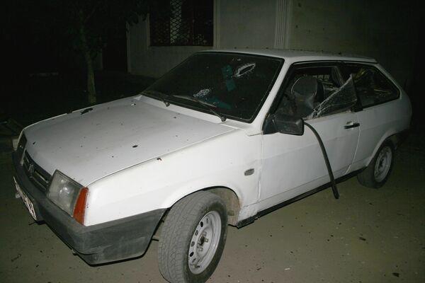 Взрыв автомобиля Лада-Приора, начиненного взрывчаткой, у поста милиции близ Назрани