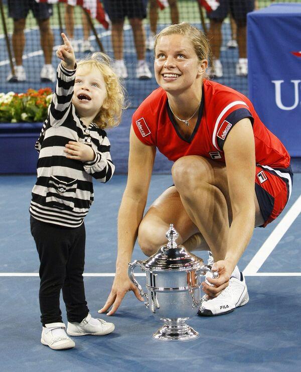 Ким Клейстерс с дочерью Джадой