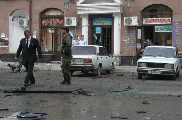 Взрыв в центре Грозного