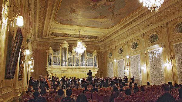 Зал в консерватории в Санкт-Петербурге