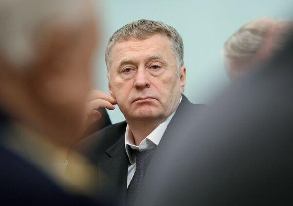 Лидер ЛДПР Владимир Жириновский в Доме правительства
