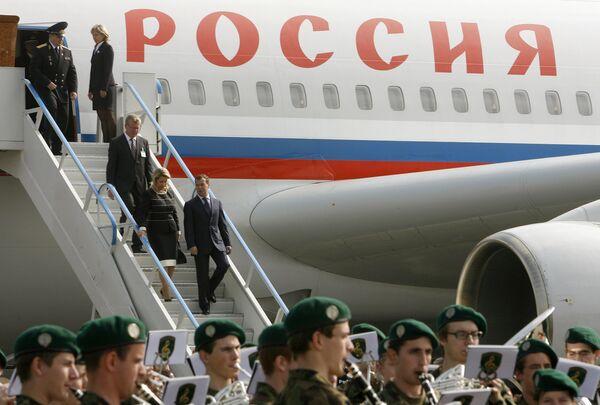 Президент РФ Дмитрий Медведев прибыл в Швейцарию