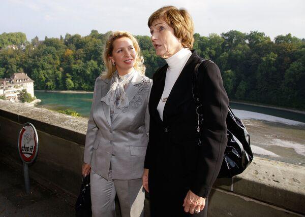 Супруга президента РФ Светлана Медведева и супруга президента Швейцарской Конфедерации Розвита Мерц