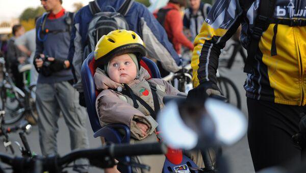 Велопробег в поддержку Дня без автомобиля на Воробьевых горах. Архив