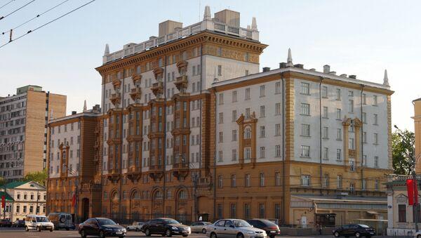 Здание американского посольства в Москве. Архив