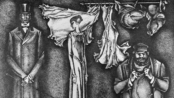 Иллюстрация Заборова к рассказу Ф. М. Достоевского «Кроткая»