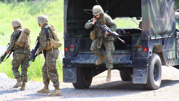 Морская пехота США на военной базе в Куантико (штат Вирджиния). Архивное фото