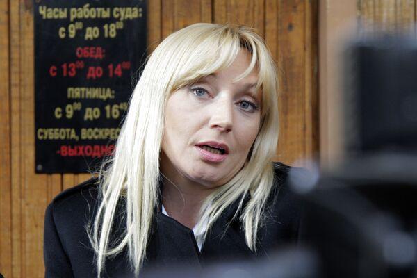 Певица Кристина Орбакайте в здании Тверского суда Москвы