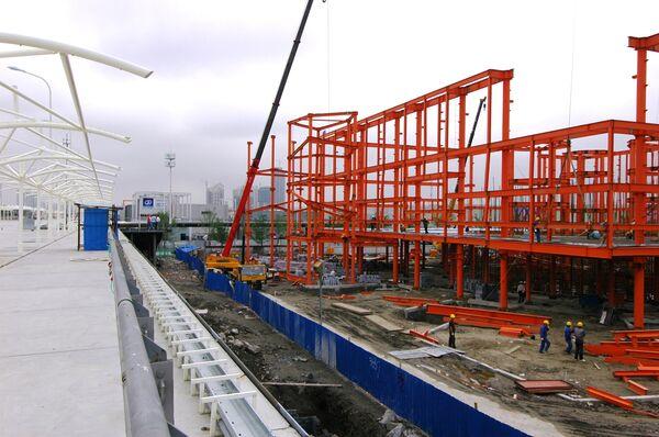Строительство павильона РФ для выставки ЭКСПО-2010 в Шанхае