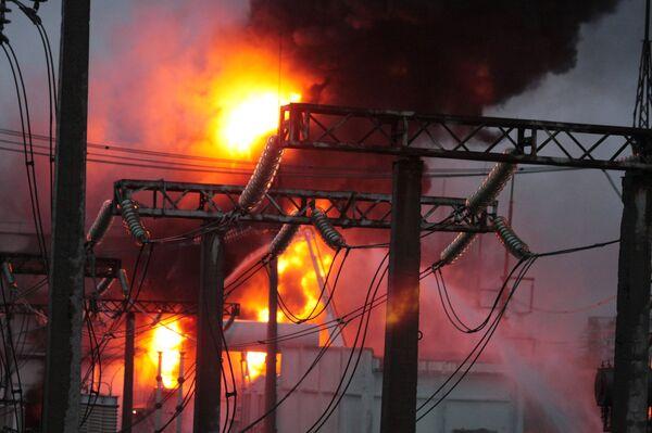 Пожар на электроподстанции Сабурово