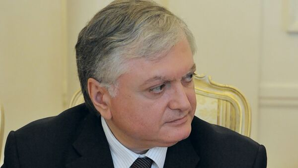 Министр иностранных дел Армении Эдвард Налбандян. Архив
