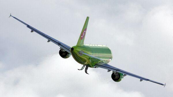 Самолет А-319 авиакомпании S7 (Сибирь)