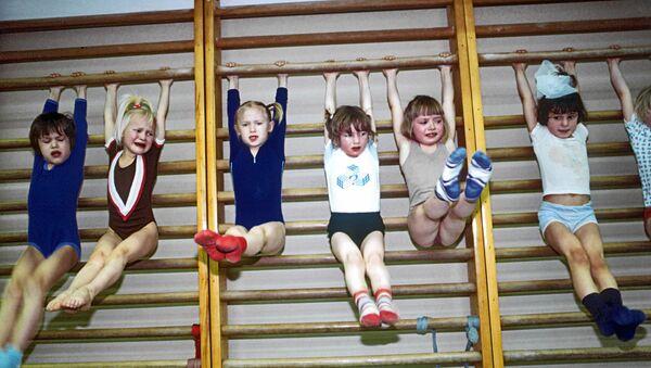 Занятия в детской спортивной секции