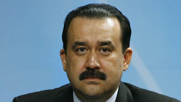 Премьер-министр Казахстана Карим Масимов во время пресс-конференции по итогам заседания Совета глав правительств государств-членов ШОС