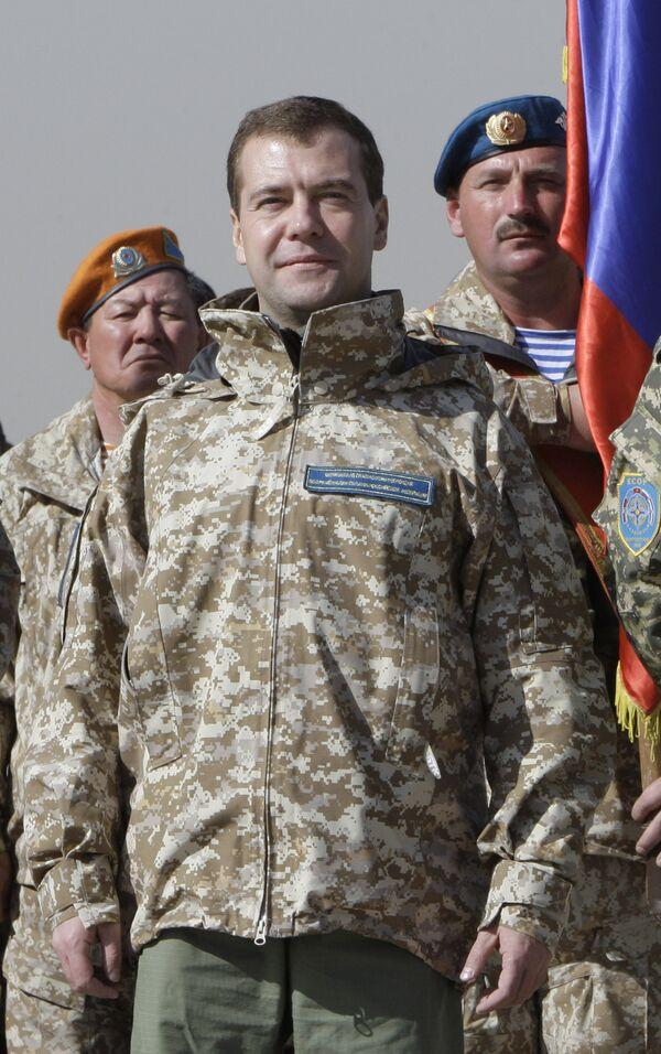 Президент России Дмитрий Медведев в Казахстане