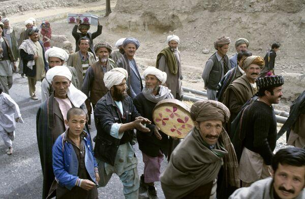 Жители Демократической Республики Афганистан во время выборов. Архив