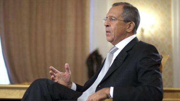 Глава МИД РФ Сергей Лавров дал интервью СМИ