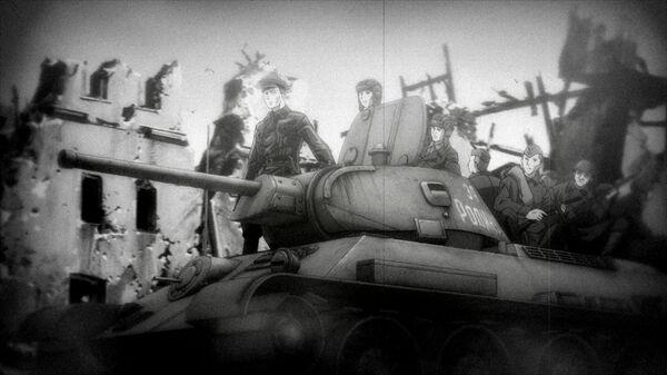 Кадры из русско-японско-канадского аниме Первый отряд