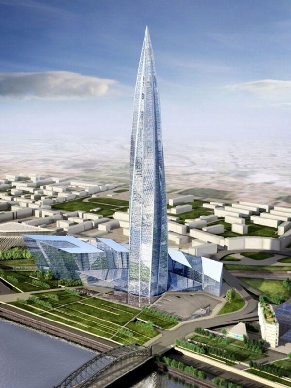 Проект общественно-делового района Охта центр