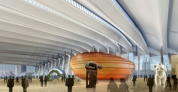 Внутренние пространства Охта центра. Проект