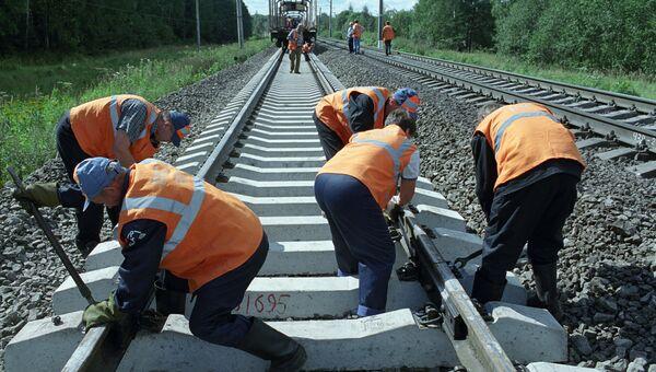Летние путевые работы на железной дороге
