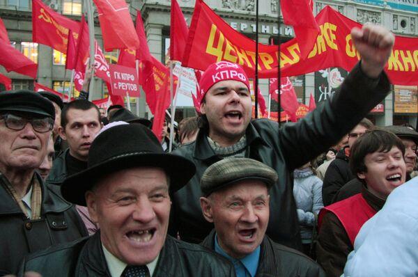Митинг на Триумфальной площади. Архив