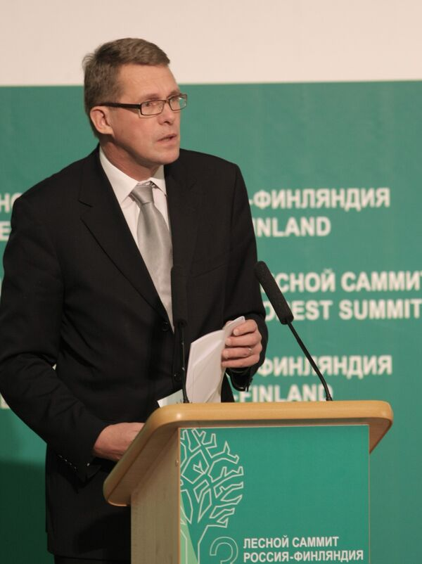 Премьер-министр Финляндии Матти Ванханен принял участие в работе российско-финляндского Лесного саммита