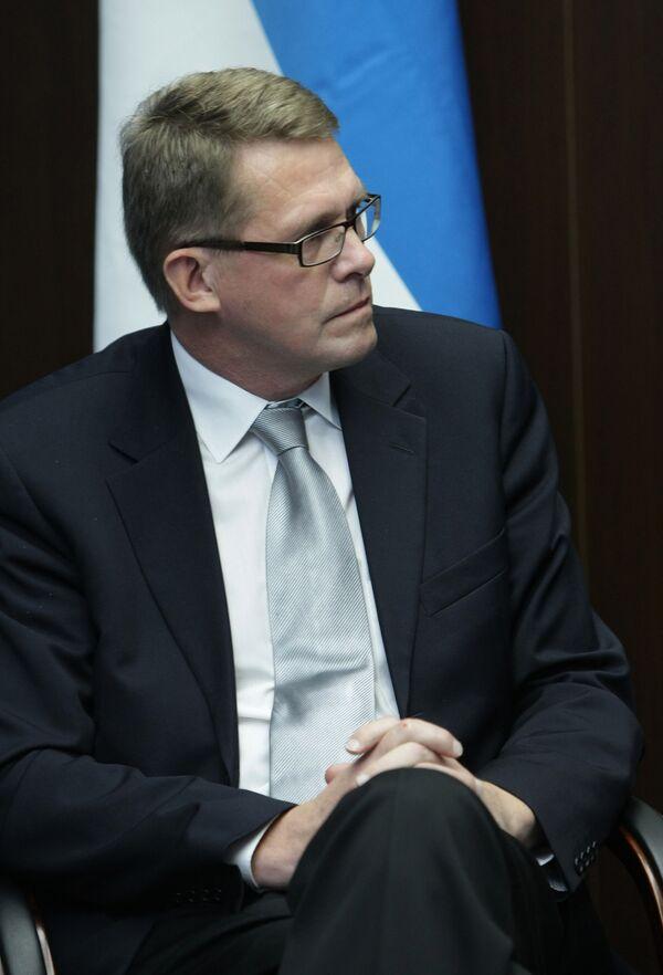 Глава правительства Финляндии Матти Ванханен во время встречи с премьер-министром РФ Владимиром Путиным