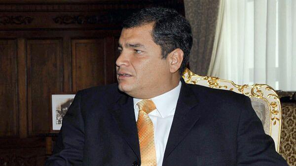 Президент Эквадора Рафаэль Висенте Корреа Дельгадо