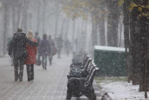 Выпавший в Москве снег не растает и сделает пейзаж зимним