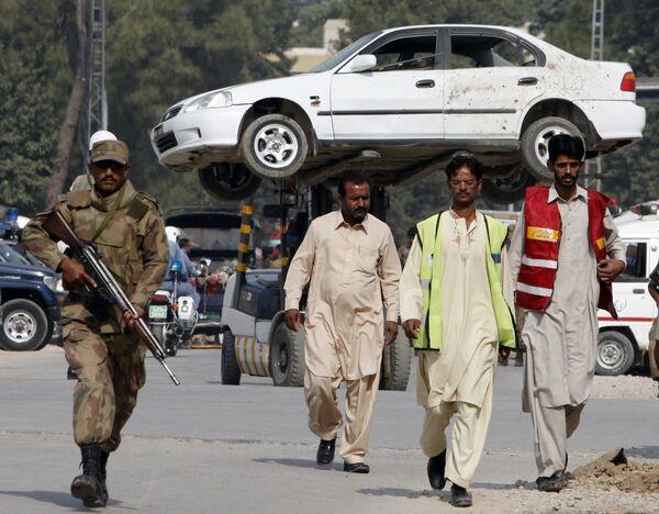 Взрыв прогремел рядом с отелем в пакистанском городе Равалпинди неподалеку от Исламабада