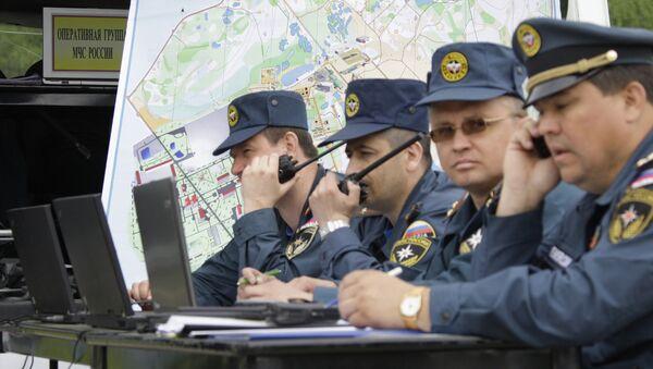 Работа оперативного штаба МЧС. Архивное фото