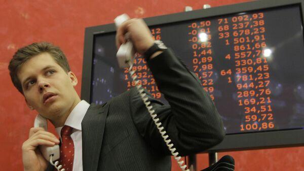Работа Московской межбанковской валютной биржи (ММВБ)