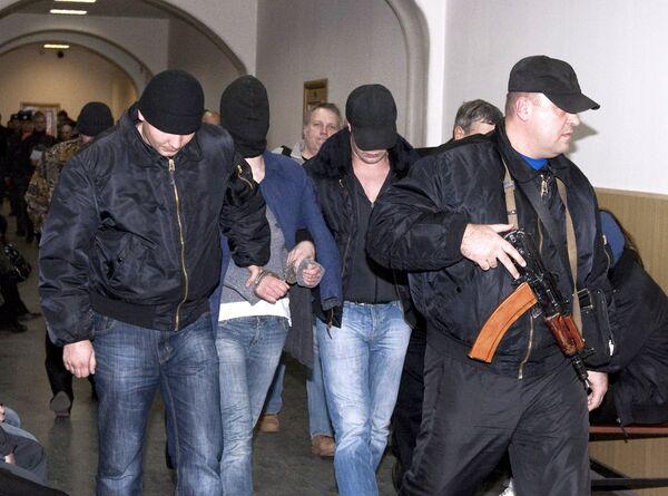 Обвиняемые в убийстве адвоката С.Маркелова и журналистки А.Бабуровой
